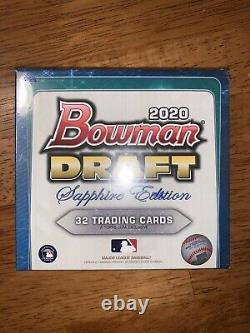 2020 Bowman Draft Sapphire Edition Factory Sealed Box Brand New IN HAND NOW