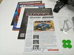BRAND NEW Traxxas MAXX 4s 1/10 Roller Slider Chassis Green Version with Extras