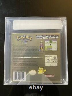 Brand New Factory Sealed Pokemon Gold Version Game Boy Color VGA Graded 85 Rare