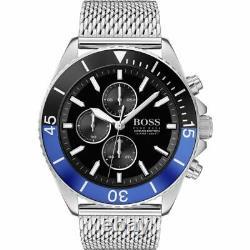 Brand New Genuine Hugo Boss 1513742 Ocean Edition Steel Mesh Bracelet Mens Watch