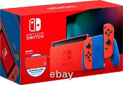Brand New Nintendo Switch MARIO RED & BLUE EDITION Red Joy-Con