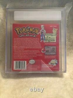 Brand New Sealed Pokemon Red Version 1st Print Game Boy VGA Graded 85 Silver