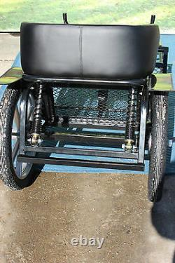 Brand new mini size horse drawn SPECIAL EDITION easy entry cart brakes, shocks