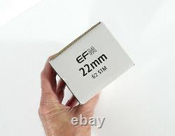 Canon EF-M 22mm f/2 STM Lens Silver- U. S. VERSION- BRAND NEW- FAST SHIP