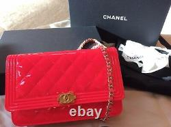 Chanel Crossbody Bag Neon Pink Patent Leather Limited Edition Brand New