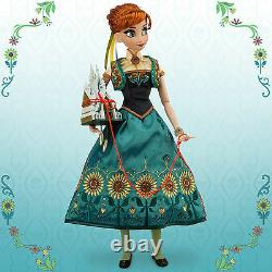 Disney Store Frozen Fever Anna Limited Edition Of 5000 17' Doll Brand New In Box