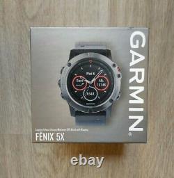 Garmin Fenix 5X 51mm Sapphire Edition Multi-Sport Training GPS Watch Brand New