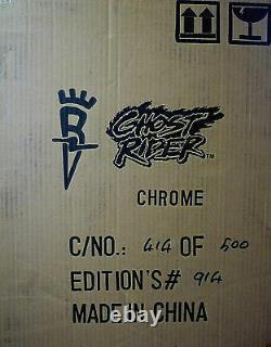 Ghost Rider Black Chrome Variant Statue New 2004 Bowen Marvel Amricons