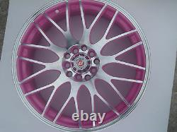 Limited Edition 17x7J Pink Yazmine Alloy Wheels Brand New for Audi A3 TT +More
