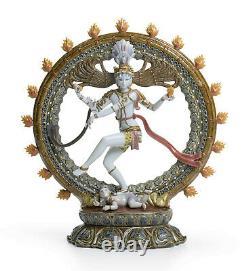 Lladro #1947 Shiva Nataraja Brand Nib Hindu Limited Edition $1000 Off Free Ship
