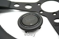 MOMO PROTOTIPO BLACK EDITION Steering Wheel Leather 350mm Brand New Authentic