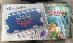 New Nintendo 2DS XL Hylian Shield Limited Edition System Bundle BRAND NEW