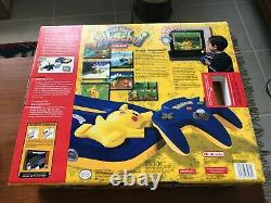 Nintendo 64 Pikachu Set Limited Edition with Bonus Watch, Brand New Sealed