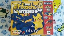 Pikachu Nintendo 64 Set N64 Pokemon Console (Brand NEW!). TOyS R US Version