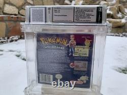 Pokemon Blue Version (Game Boy, 1998) Wata Graded 3.5 A+ Sealed Brand New RARE
