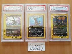 Pokémon PSA 10 Umbreon Holo Trio 1st Edition Discovery, Skyridge & Aquapolis