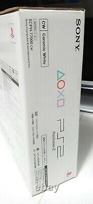Rare Brand New Playstation 2 Ceramic White Console PS2 Slim Japanese Version