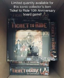 Ticket to Ride 10th Anniversary Edition Board Game OOP Rare (BRAND NEW, SEALED)
