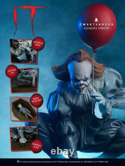Tweeterhead Pennywise IT Statue Maquette EXCLUSIVE Edition In Stock