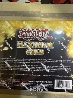 Yu-Gi-Oh! Maximum Gold 1 Display Box (5 Mini Boxes)Brand New First Edition